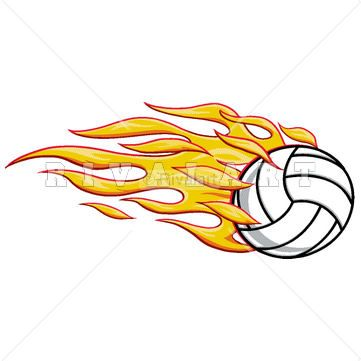 48 best volleyball clip art images on pinterest clipart images rh pinterest com Volleyball with Flames Volleyball Clip Art
