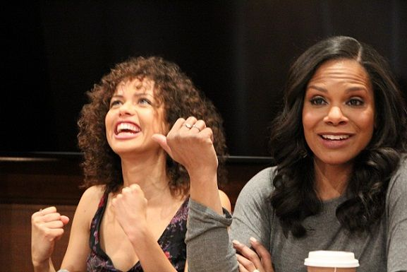 "Beauty and the Beast Interview with Audra McDonald (""Garderobe"") & Gugu Mbatha-Raw (""Plumette"") #BeOurGuest – The Night Owl Mama"