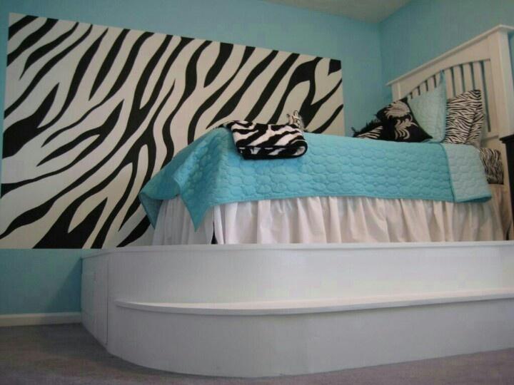 Zebra Print Decorating Ideas Bedroom 16 Best Blue & Zebra Print Images On Pinterest  Zebra Print .