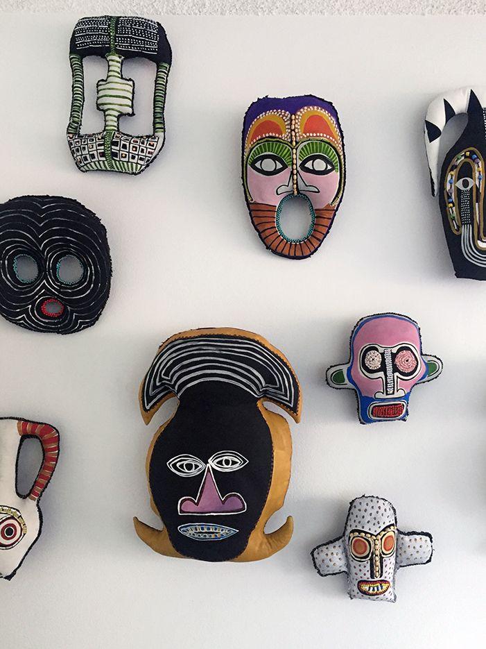 soft sculpture masks by Paula do Prado Sydney-based artist