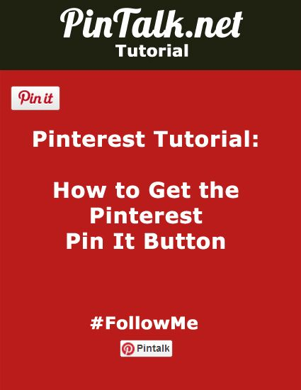 How to Get the Pinterest Pin It Button http://pintalk.net/how-to-get-the-pinterest-pin-it-button/ via @pintalknet #tutorial #pinterest #pinteresttutorial