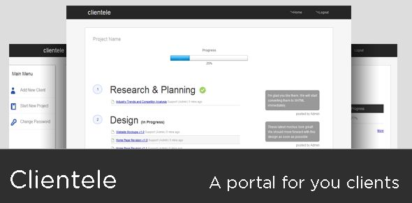 Clientele - A secure client portal