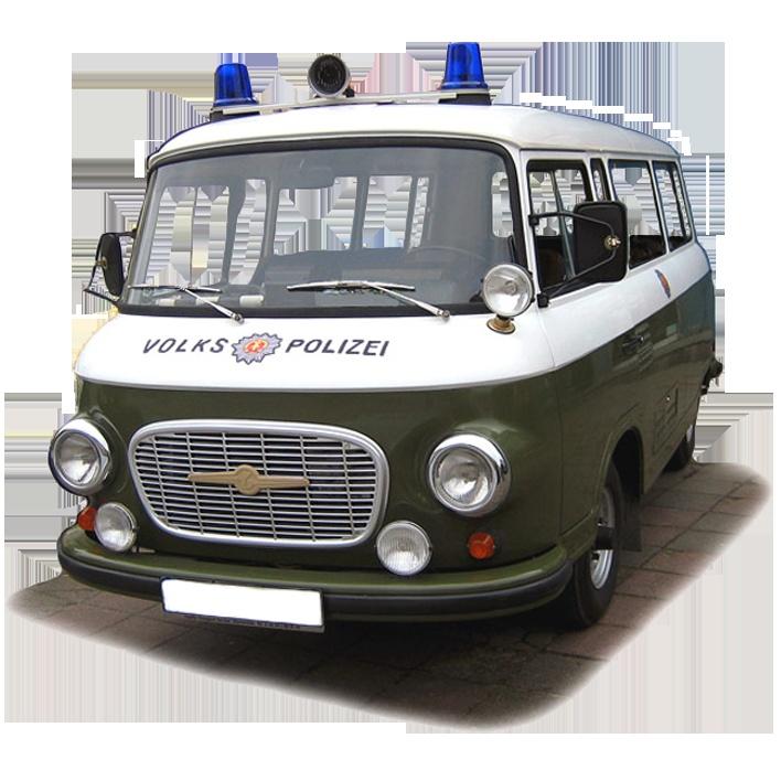 Barkas Volkspolizei Ca. 21x19 Cm
