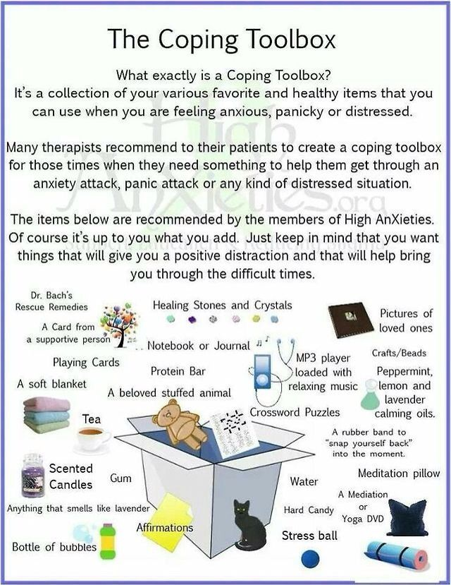 Items for a coping toolbox- | Just the FACS- Childcare/Parenting/Fami ...