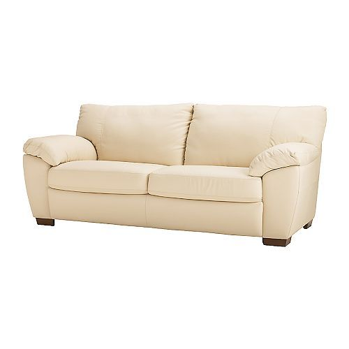 Superb I Love The Wood Feet On This Leather Sofa. This Is The Cream Version,