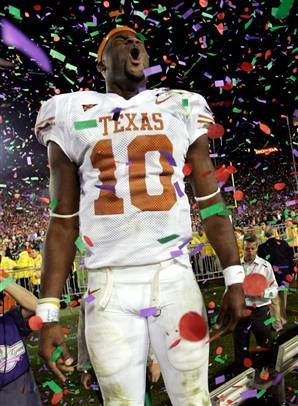 Vince Young at the 2005 Rosebowl! Yep, I was there :)