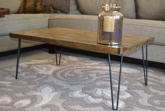 Rustic Modern Coffee Table 16x30 Tiny House by MintageDesigns