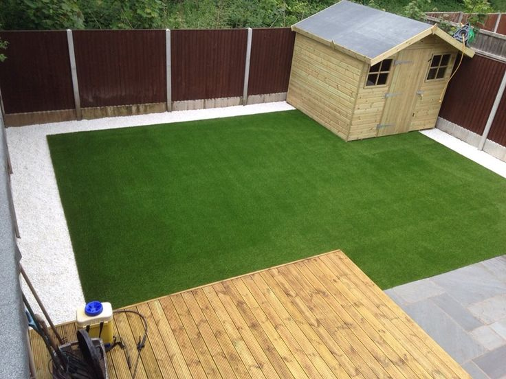 Lawn Land Artificial Grass finished with white pebble boarders