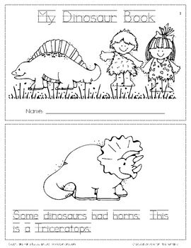 This is a simple dinosaur book for kindergarten kiddos.  It is intended to be informational and fun.  They can trace the words, color the dinosaurs...