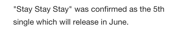 this was on the red albums Wikipedia so I'm guessing the video is for stay stay stay