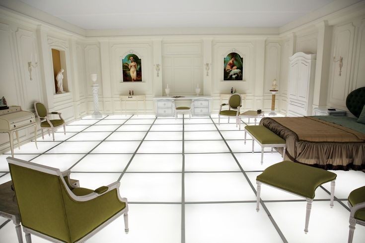 British artist Simon Birch turns the final bedroom shot from Stanley Kubrick's acclaimed movie into a new art exhibit in Los Angeles.