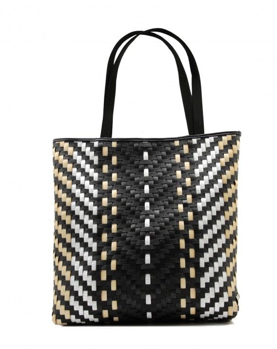 Timea in V for Vagabond - Classic tote is crafted from durable synthetic rattan and trimmed in Italy leather for a sleek, sophisticated look.  *Chameo Couture fashion bags are artisan handmade and handwoven, therefore the pictures are close reference but not exact representation, as each item is unique and special, with its distinct patterns and natural characteristics/textures of a handmade product.