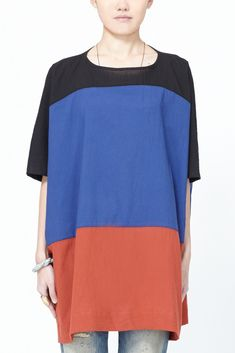 UZI Color Block Dress (Brick) Available now at Totokaelo.com!