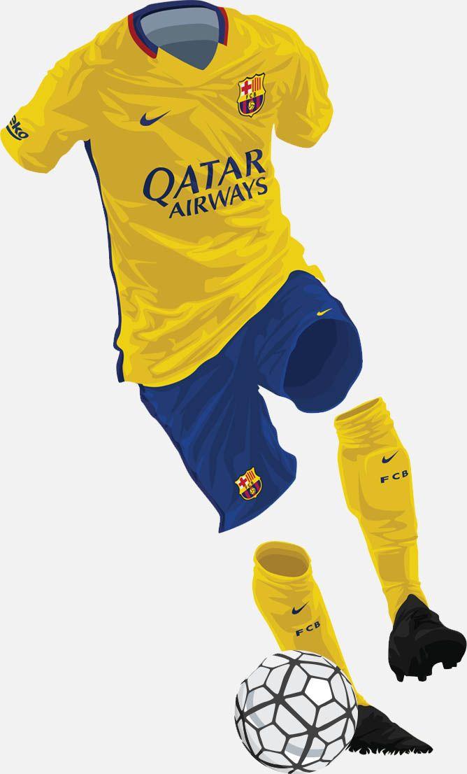 2015-16 European Football Most Valuable Kits | Barcelona