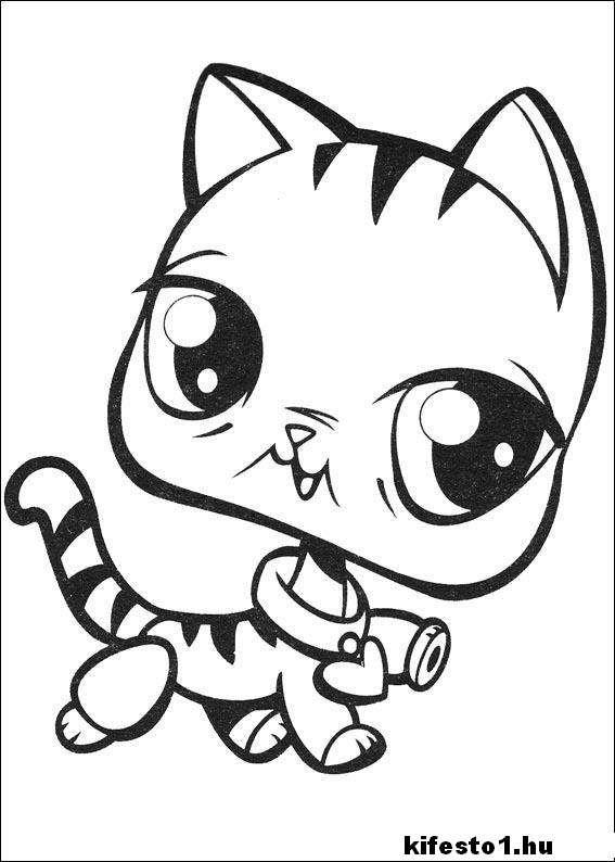 macskás 6 kifestő nyomtatható