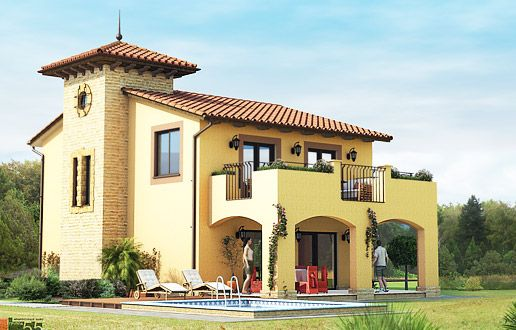 Двухэтажные дома - строительство - Дом двухэтажный Италия 5 Элитный классика - Продажа дома в Краснодаре Италия площадью 150 кв.м. в Немецкая деревня