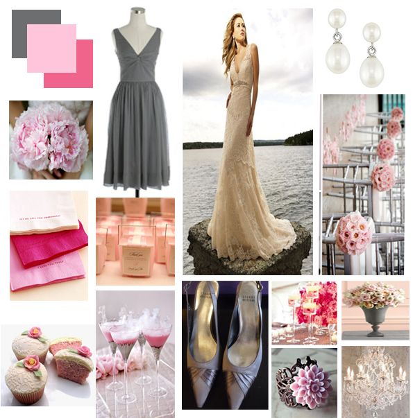Colors That Go Well With Pink 54 best pink and gray wedding images on pinterest | pink and gray