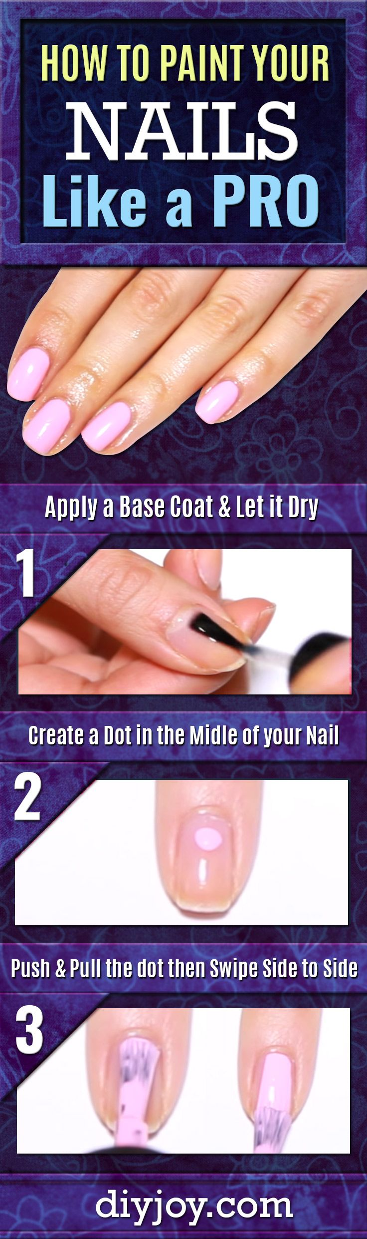 How To Paint Your Nails Like A Pro - Get a Perfect Manicure at Home by Following These Easy Step by Step Instructions for Nails - DIY Beauty, Crafts and Cool DIY Projects by DIY JOY