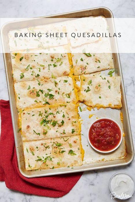 Baking Sheet Quesadillas via @PureWow via @PureWow