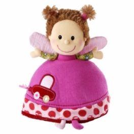 Lilliputiens Liz reversible rattle doll Designed in Quebec