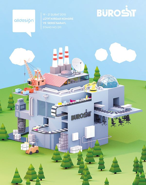 Bürosit - Isometric Factory on Behance