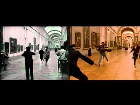 Running through the Louvre Bande à Part(1964) and The Dreamers(2003) - Two Movies One Scene