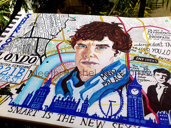 'Sherlock' - Pop Art doodle by Neethi Abraham, via Behance