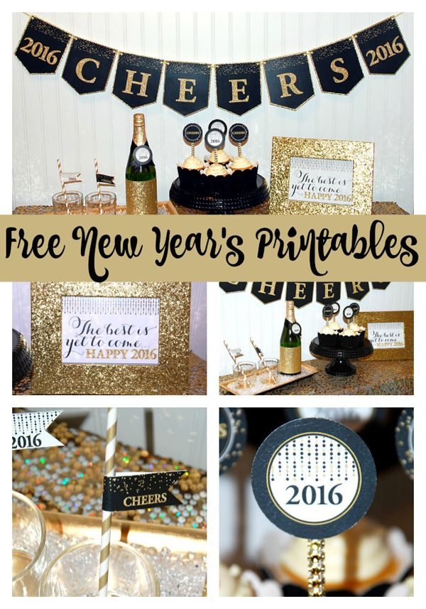 Get this FREE New Year's Eve 2016 Printable Party Package on www.prettymyparty.com