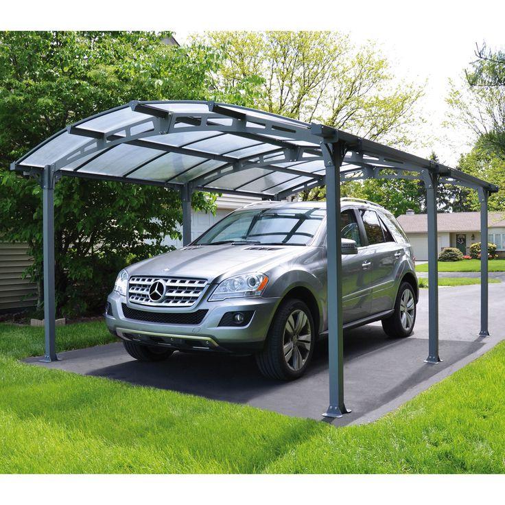 Carport mit stabilem Aluminiumrahmen und UV-beständiger Dachpaneele aus Polycarbonat