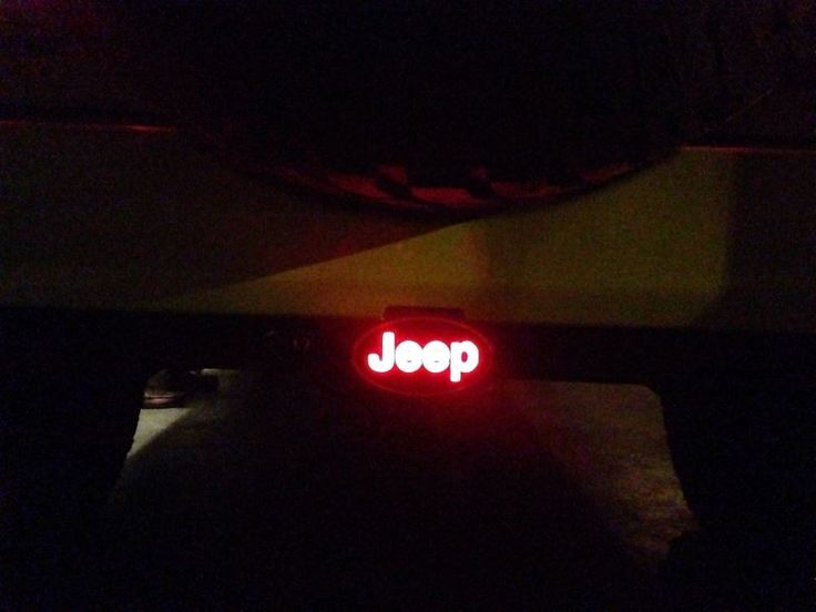 "Jeep LED Lighted Trailer Hitch Cover - 1-1/4"" and 2"" Hitches - Black Reese Hitch Covers RP86533"