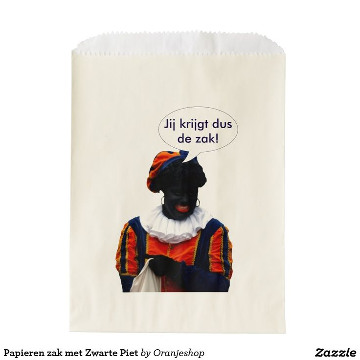 Papieren zak met Zwarte Piet Favor Bags