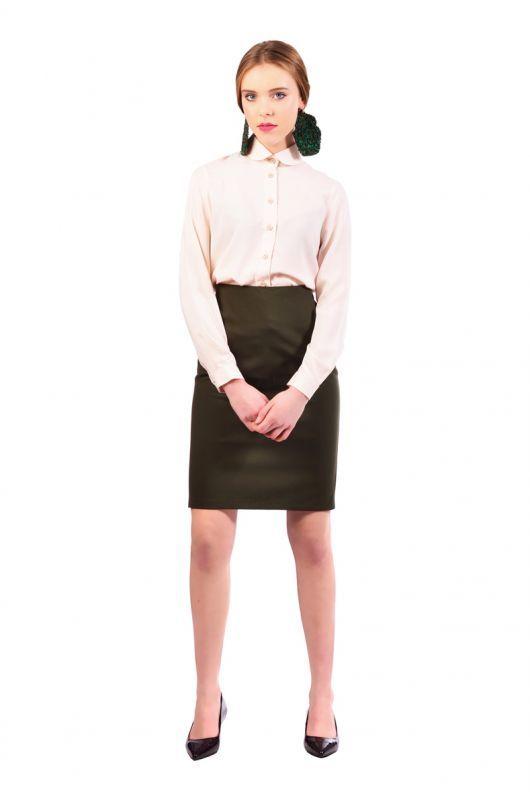 Zelená tube sukňa