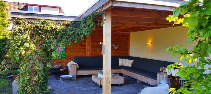 veranda overkapping tuin hoek L vorm