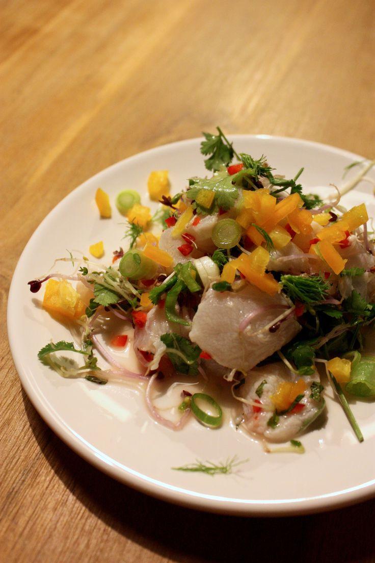 No. 7: Ceviche van Kabeljauw, Grutten en Chinese Pannenkoek