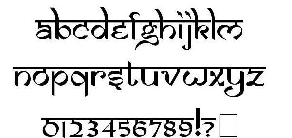 Hindi style font