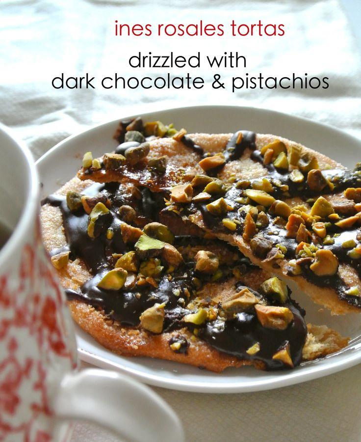 """Ines Rosales Tortas drizzled with Dark Chocolate & Pistachios"" www.foodonfifth.com for recipe Teresa Blackburn www.teresablackburnfoodstyling.com"