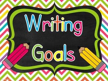 A great way to display writing goals in your classroom. Each writing goal uses I statements and is written in student friendly language. The goals can be easily changed as students master a skill or as you switch genres or focus. You could also make a permanent display of some of the goals. Suggestions on how to use the chart and display it are included.
