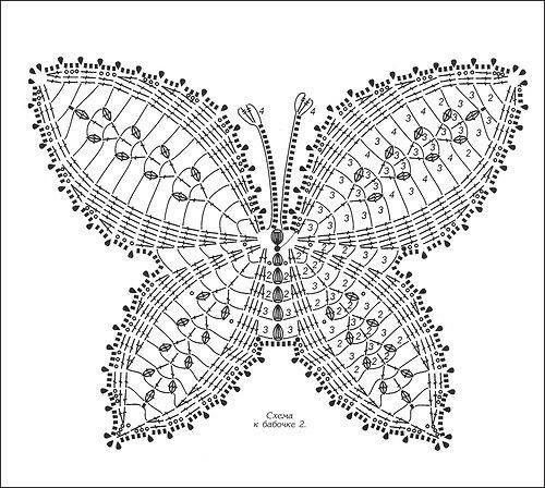86 best crochet butterflies images on pinterest