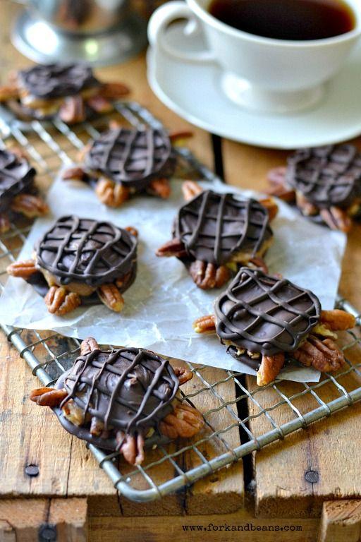 Las tortugas de chocolate vegetariana - Tenedor y Frijoles