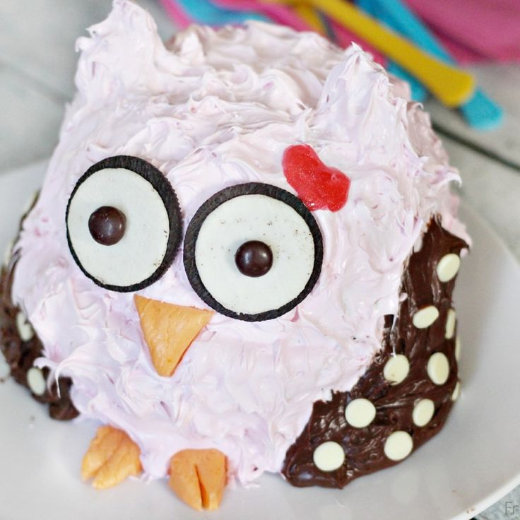 Owl smash cake!