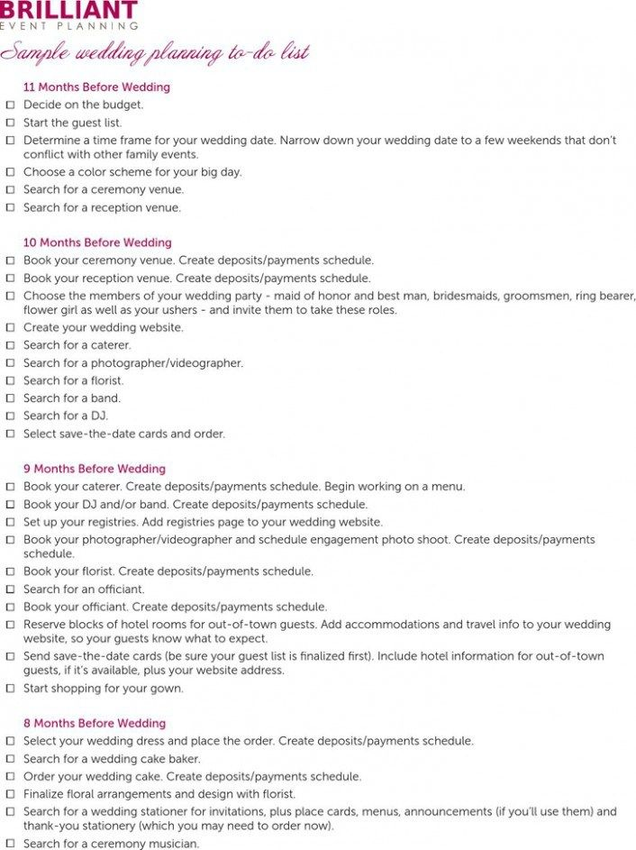 Five Advantages Of To Do List For Wedding Planning And How You Can Make Full Use Of It T Wedding Planning List Wedding To Do List Wedding Guest List Template
