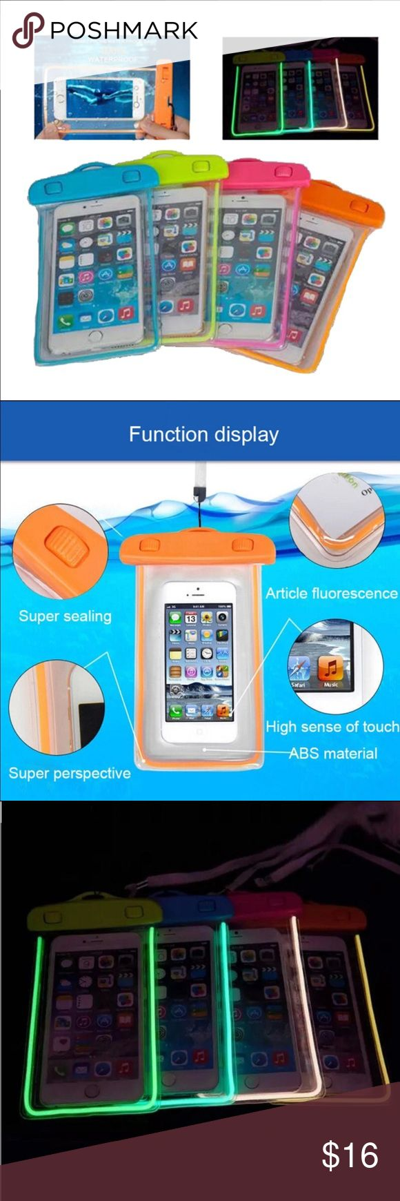 100% Sealed Waterproof Phone Case New Fluorescence Waterproof Durable Water proof Bag Pouch for iphone 5 5s se 6 6s plus transparent underwater back cover case. Accessories Phone Cases