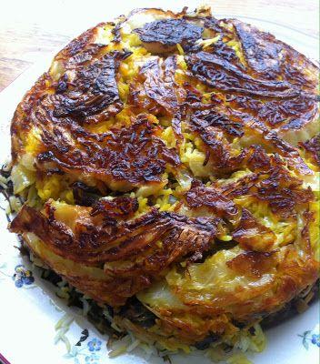 La mia cucina persiana: Kalam Polò Shirazi - Riso Basmati con Cavolo Capuccio, polpettine di carne ed erbe aromtiche