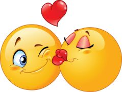 kissing emoticons sticker