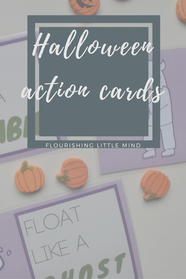 free printable - halloween action cards      Its almost halloween!! Which means lots of spooky arts, crafts and activities for little bee.  I have always liked action cards because they're fun and also encourage kids to be…