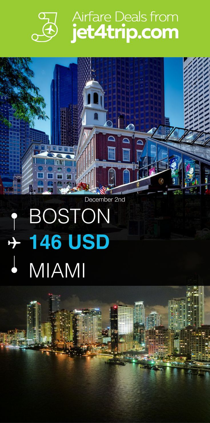 Flight from Boston to Miami for $146 by United Airlines #travel #ticket #deals #flight #BOS #MIA #Boston #Miami #UA #United Airlines