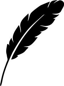 silhouette feather stencil template