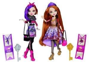 Holly O'Hair and Poppy O'Hair Doll (2-Pack) Twin sisters and daughters of Rapunzel. They both come with lots of little accessories and their outfits are as detailed as it gets. http://bitly.com/1zdaV7F
