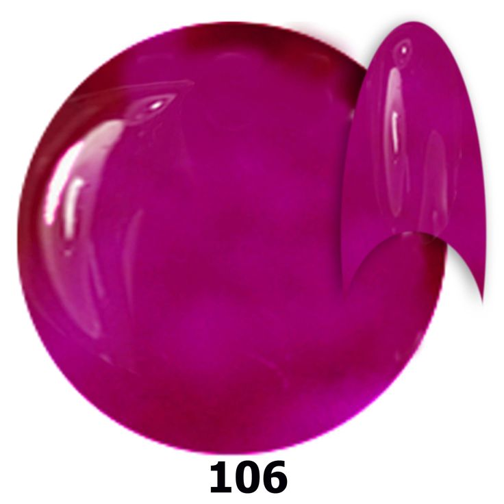 106. NTN Lakier żelowy UV - Neon Violet - Neonowy Fioletowy - 6ml