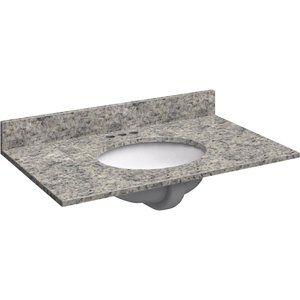 CT Global Marabello Santa Cecilia Granite Vanity Top - SC-2522-R-O-4C